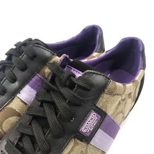 Coach Shoes - Women's Coach Joss Sneakers Brown Grape Size 6.5